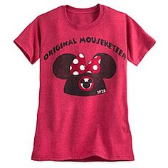 Minnie Mouse Icon Mouseketeer Tee for Women | Disney Store Hey there, hi there, ho there - Hold that banner high for our original Mouseketeers in this soft heathered tee with vintage-look Minnie ears icon. Why? Because we like you!