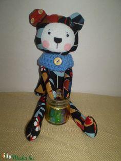 Borzas medve (fekete) (pillenyek) - Meska.hu