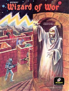 "Developed by Dave Nutting Associates in 1981 for Commodore 64    ""Welcome to my Dungeons of Wor"""