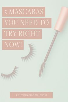 The best 5 mascaras you need to try right now! Beauty Tips and Tricks, Cosmetic Products to Buy, Beauty Blogger, Makeup Advice #makeup #cosmetics #beauty #beautytips #beautyblog #beautyblogger #mascara