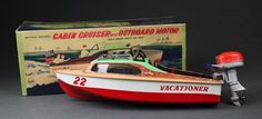 Linemar Vacationer Battery Operated 22 Cabin Cruis : Lot 273