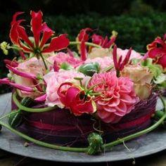 Flower cake - regio Wageningen, Bennekom, Ede, Renkum | bloemwerkopmaat.nl