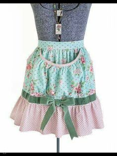 Blue paisley print women retro apron with triple tiered skirt , Aprons for women , Full kitchen apron , Cute chef apron Gardening Apron, Cute Aprons, Sewing Aprons, Half Apron, Apron Pockets, Teal And Pink, Aprons Vintage, Apron Dress, Medieval Clothing