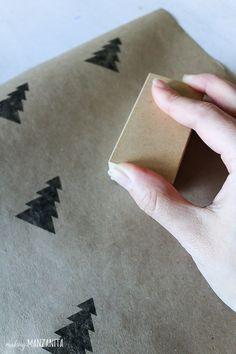 Hand stamping black