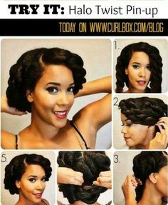 Halo twist pin up