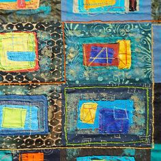 "Lilly Geometric Textile Art Series ""Loose Ends, Three"""