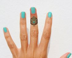 Gorgeous Hamsa Above Knuckle Ring...