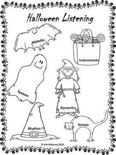 FREE DOWNLOAD for the music classroom. This Halloween Themed Listening worksheet has been designed for use with a variety of grade levels in mind and can be used with all your Hal...
