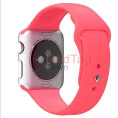 Apple Watch 42mm sport band pink Has pink sports band almost looks like a coral color, comes with box, docking station, and charger! I love the watch but just need the extra cash! Apple Accessories Watches