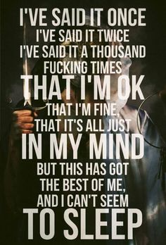 It Never Ends -Bring Me The Horizon. I love song lyrics.