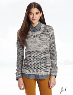 Jack Juniors Tovah Marled Lurex Dropped Needle Sweater