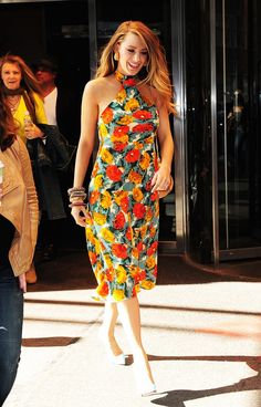 The Blake Lively Guide to Summer Dressing via @WhoWhatWear