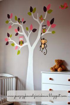 Puszczykowo - dzieciakowo: Dekorowanie ściany w pokoju dziecka w pięciu kroka...