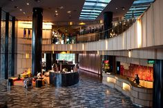 Lobby at Crowne Plaza Changi Airport Hotel Singapore