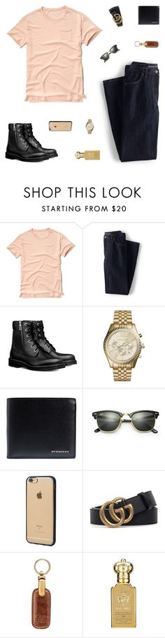 """Eddie"" by belenloperfido ❤ liked on Polyvore featuring Hollister Co., Lands' End, Michael Kors, Burberry, Ray-Ban, Incase, Gucci, Maxwell Scott Bags, Clive Christian and men's fashion"