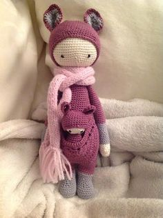 KIRA the kangaroo made by Cathrin K. / crochet pattern by lalylala