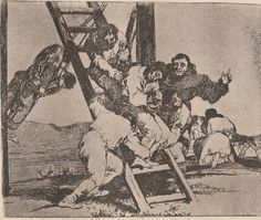 Francisco Goya - Duro es el paso - Plate #14 - Disasters Of  War  #Realism