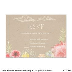 In the Meadow Summer Wedding RSVP Card