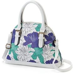 Under One Sky Floral Dome Satchel