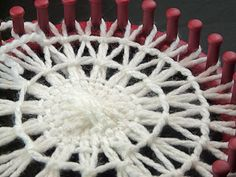 Giant Teneriffe snowflake #4 by gingerbread_snowflakes, via Flickr. There are all the little looms as well.