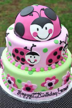 1st birthday ideas for girls photo: Pink Lady bug thecakemamasladybug.jpg