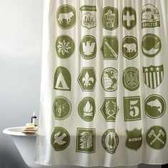 Just thought this was adorable and makes me think of your little boy in like 5 years! Scout Shower Curtain #WestElm