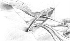 Architectural Sketches | architectural sketch 6 by Mihaio