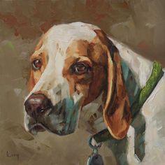 """""""Pointer"""" - Original Fine Art for Sale - © Kathleen Coy"""
