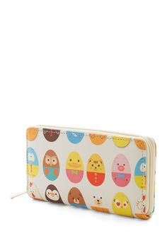 Too Cute for Herds Wallet - Multi, Kawaii, Quirky, Darling, Critters, Faux Leather, Novelty Print