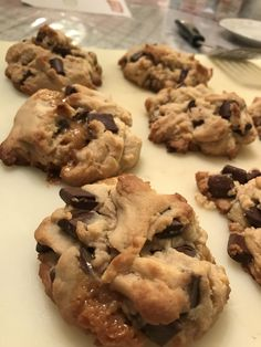[Homemade] salted caramel chocolate chip cookies. #food #foodporn #recipe #cooking #recipes #foodie #healthy #cook #health #yummy #delicious