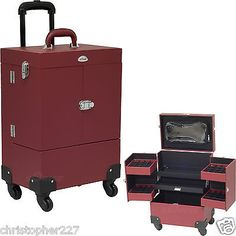 Red OPI Nail Polish Manicure Pedicure Makeup Trolley Case Organizers Storage