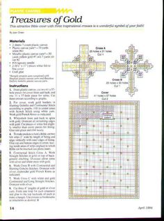 Treasures of Gold Bible Cover & Three Crosses which can be used as bookmarks and front cover 2/3