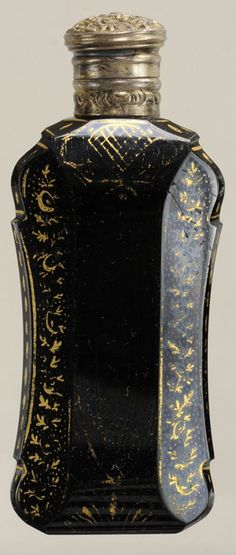 Two Black Hyalith Glass Perfume : Lot 717