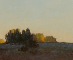 'Evening near Chamberino (New Mexico)' by  Marc Bohne (b.1955). Oil on panel, 6 x 7 in.