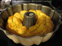"The Realtor s Small Sized Garlic Pull Apart Bread from Food.com:   								There are alot of recipes out there for this quick and tasty bread but they all make a large bread that's just too much for my small family.  I created this yummy version for those of us who need a smaller ""loaf"".  It's the perfect size for 2 adults and 1 or 2 kids.  I make mine in a small heart shaped springform pan.  My daughter just loves it and my husband wolfs this down fast."