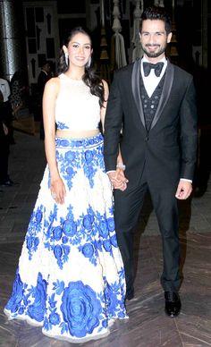 Shahid Kapoor and Mira Rajput held their wedding reception at Palladium Hotel in Lower Parel, Mumbai. #Bollywood #ShahidMiraReception #ShahidKiShaadi #Fashion #Style #Beauty #Handsome
