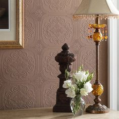 Graham and Brown Paintables Wall Doctor Wallpaper - Victorian Effect Pattern modern wallpaper
