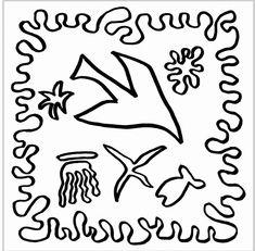 Pequeños Pinceles: Plantillas para hacer collages de Matisse
