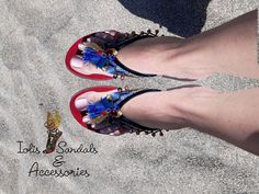 ethnic leather flip flops Greek sandals mykonos, leather hand painted sandals Leather Flip Flops, Greek Sandals, Mykonos, Ethnic, Hand Painted, Trending Outfits, Unique Jewelry, Etsy, Fashion