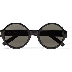 SL 63 round-frame acetate sunglasses Saint Laurent ❤ liked on Polyvore featuring accessories, eyewear, sunglasses, round acetate sunglasses, round frame glasses, round sunglasses, yves saint laurent eyewear and yves saint laurent