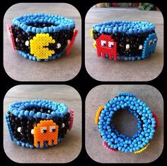 Amazing Pacman kandi cuff! Love this :)