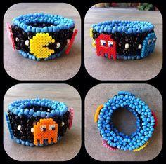 Amazing Pacman kandi cuff! Love this :)
