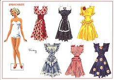 Store Marie. My sisters and I spent hours making new outfits for this paperdoll from pictures in old fashion magazines.
