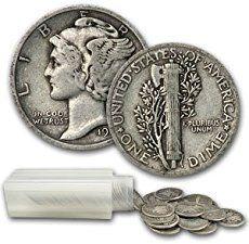 Mercury Dimes Silver 50 Coin Roll Face Value Avg. Gold Bullion Bars, Bullion Coins, Silver Bullion, Old Coins Worth Money, Rare Pennies, Valuable Coins, Valuable Wheat Pennies, Coin Store, Gold Stock