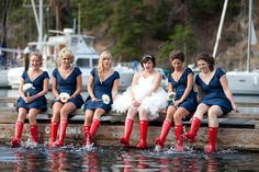 Fun photo ideas with Wellies! At Poets Cove Marina Red Hunter Boots, Hunter Wellies, Wellies Rain Boots, Victoria Wedding, Island Weddings, Vancouver Island, Wedding Pictures, Beautiful Outfits, Cool Photos