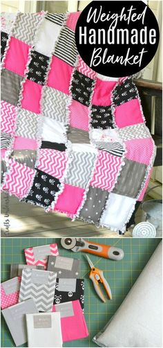 Sewing Quilts How To Make a Weighted Blanket Rag Quilt - This rag quilt styled DIY weighted blanket tutorial gives you a bit of comforting weight while also fitting right in with your decor or your style! Sewing Hacks, Sewing Tutorials, Sewing Crafts, Sewing Patterns, Sewing Tips, Quilting Tutorials, Quilt Patterns, Sewing Designs, Diy Crafts