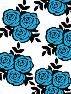 A Love Wallpaper, Wallpaper Backgrounds, Foto Cartoon, Silhouette Art, Blue Roses, Artwork Prints, Cute Wallpapers, Flower Art, Printing On Fabric
