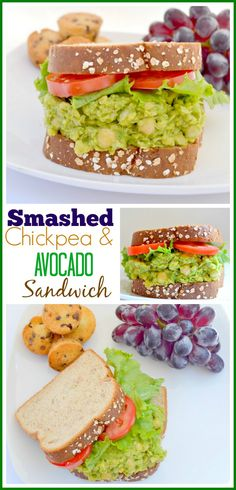 Smashed Chickpea and Avocado Sandwich #‎LifeoftheLunchbox‬ ‪#‎ad‬