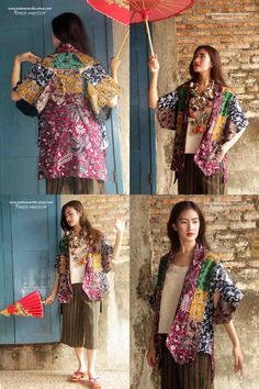 Batik Amarillis's Kiku Patchwork Jacket super unique and Fabulous Kimono's inpired jacket is BACK and REVAMPED!now with better cutting and style .. Made for you who's not afraid to stand out in the crowd looking fabulously unique & stylish .