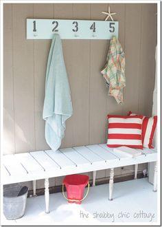 Beach inspired porch